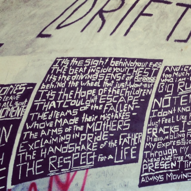 words on walls